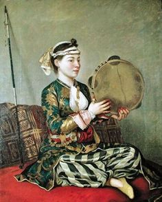 Jean-Étienne Liotard (Swiss painter, 1702–1789) Turkish Women with Tambourine
