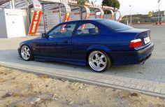 Avus blue BMW e36 on classic Artec ML wheels