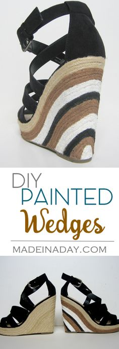 Painted Wedge Sandal