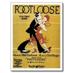 Foot Loose Vintage Song Sheet Music Art Post Cards #song #music #postcards