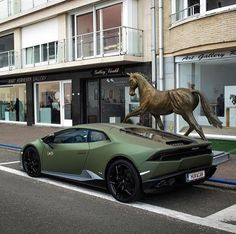 This military green Lamborghini Huracan has us drooling!  What about you?  #matte #carspotting #dreamcar