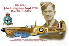 Spitfire Mk Vc John Livingstone Boyd DFM 1942