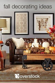 Fall Decorating Ideas - Say goodbye to summer and welcome the fall season. Bring the rich colors of autumn into your home and embrace this beautiful time of year.