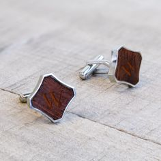 personalized wooden cuff links perfect for the modern yet rustic man mens gifts