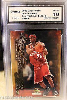 LeBRON JAMES Rookie card Upper Deck 2003 2004 #45 Redemption Graded GEM Mint 10