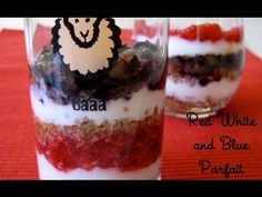 Red, White & Blue Parfait - 4th of July Potluck - Weelicious.com - YouTube