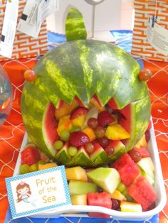 Watermelon Bruce for our Finding Nemo Party  http://catchmyparty.com/photos/273567