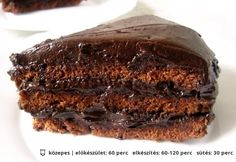 Amerikai csokitorta | NOSALTY – receptek képekkel Good Food, Yummy Food, Tasty Dishes, Sweet Recipes, Food And Drink, Sweets, Baking, Eat, Chocolate Cakes