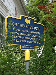 Political and social commentary disguised as historical markers