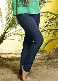 Calça Skinny em Cotton Jeans Azul