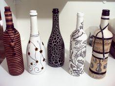 garrafas decoradas - Ateliê mãos Em ação
