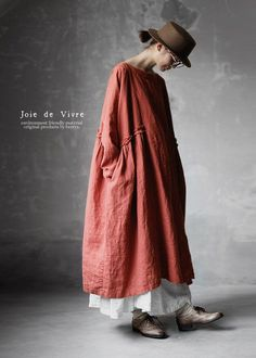 【送料無料】Joie de Vivreフレンチリネンバイオワッシャーブロガントフリルワンピース