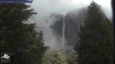 Upper Yosemite Fall, Yosemite National Park, California - on Saturday April 25 - during Minor Storm 21