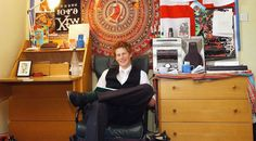Prince Harry sits in his dorm room.
