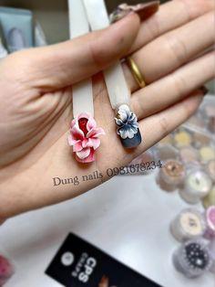 Floral Nail Art, 3d Nail Art, 3d Acrylic Nails, Gel Nails, Nail Drawing, 3d Nail Designs, Flower Nails, Nail Tutorials, Beauty