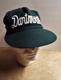 Vintage DARTMOUTH Green Wool Baseball Snapback Cap Hat One Size U.S.A. made #UniversitySquare #DartmouthBigGreen