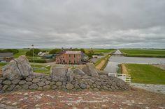 Groningen, vanaf dijk waddenzee