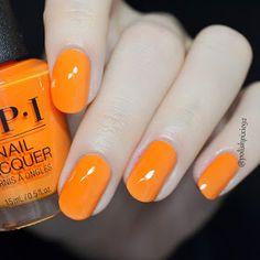 Summerlovinhavingablast orange nail polish, orange nails, new nail polish, Opi Nail Polish Colors, Orange Nail Polish, Toe Nail Color, New Nail Polish, Orange Nails, Nail Polish Designs, Opi Nails, Glow Nails, Nail Designs
