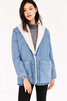Rollas Sherpa Lined Beach Jacket - Urban Outfitters