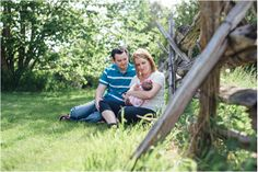 Newborn Session in a field with fence | Kimberly Walker | Toronto Family + Lifestyle Photographer