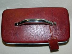 Vintage Samsonite Travel Makeup Case Train Case Carry on Luggage Maroon Red 14x9   eBay
