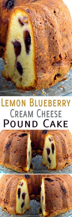 Lemon Blueberry Cream Cheese Pound Cake