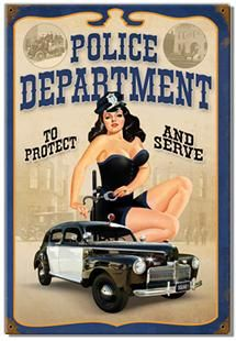 """Police Department """"to protect and serve"""" Refrigerator Magnet -Free S/H"""