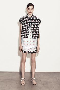 Large Scale Houndstooth from Thakoon Resort