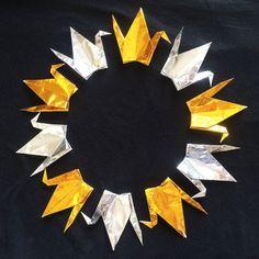 "1000 6"" Gold and Silver Origami Cranes (Senbazuru)"