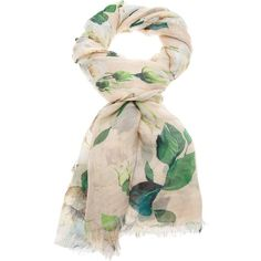 DOLCE & GABBANA floral print scarf ($480) ❤ liked on Polyvore