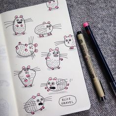 Your buddy for today: the #hamster .  #illustration #sketchbook