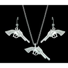 Montana Silversmiths Cowgirl Pistols Necklace/Earring Set
