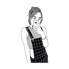 The smouldering eye G i r l O u t l i n e on We Heart It ❤ liked on Polyvore featuring fillers, drawings, outlines, doodles, magazine, fillers - drawings, text, phrase, quotes and saying