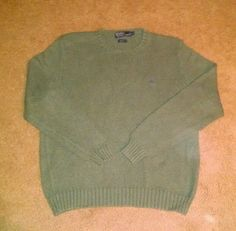 Polo Ralph Lauren Men's Green Sweater Size XL #PoloRalphLauren #Crewneck