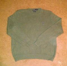 Polo Ralph Lauren Men's Green Sweater Size XL #PoloRalphLauren #Crewneck