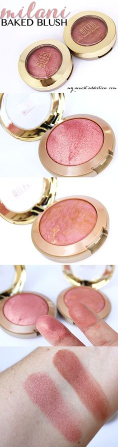 Milani Baked Blush in Dolce Pink and Berry Amore - #dolcepink #berryamore #bakedblush #milani #makeup #makeupreview #beautyreview #mynewestaddiction - Love beauty? Go to bellashoot.com for beauty inspiration!