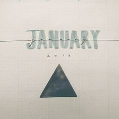 January month cover page #bujo #bulletjournal