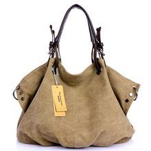 HOT! New High Quality Women Handbags Women Tote Women Clutch Bolsas Femininas Ladies Shoulder Rivet Canvas Bags Women's Bag(China (Mainland))