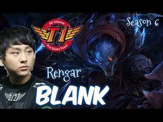 SKT T1 Blank plays RENGAR vs LEE SIN Jungle Ranked Master Korea
