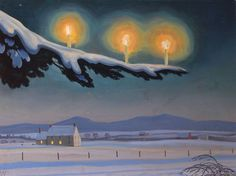 Rockwell Kent, Christmas (1954)did he paint this while he lived here? i'll have to look this up. this is beautiful!