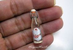 Bottle of Soda, handmade, dollhouses Scale Miniature Bottles, Miniature Kitchen, Miniature Food, Happy Hour Drinks, Free To Use Images, Doll Food, Mini Bottles, Barbie And Ken, Miniture Things