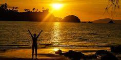 goldener Sonnenuntergang am Strand Bangkok, Thailand, Celestial, Sunset, Outdoor, Sunset Beach, Paradise, Outdoors, Sunsets