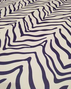 Custom Zebra Wallpaper by Sarah & Ruby Design Studio