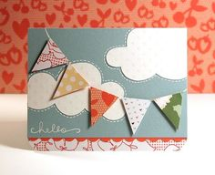 Finally Friday Videos : Hello (Paper Pieced Pennant) - Two Peas in a Bucket