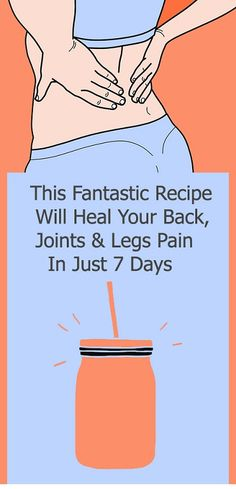 This Fantastic Recipe Will Heal Your Back, Joints & Legs Pain In Just 7 Days – Health and Remedies – Love Club Leg Pain, Back Pain, Migraine Relief, Pain Relief, Hip Problems, Medical Problems, Healthy Style, Lose 5 Pounds, Reduce Belly Fat