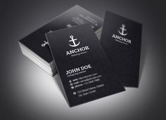 Anchor Business Cards ~ Business Card Templates on Creative Market