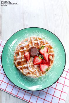 Almond Milk Waffle with Chocolate Butter
