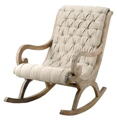 Wood Rocking Chair With Linen Upholstry - please click on image for purchase info...