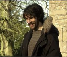 Put aside your woes smiling... Colin behind the scenes