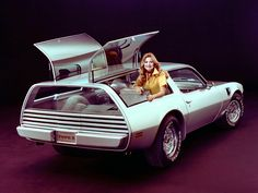 Wagon Wednesday - Pontiac Firebird Shooting Brake. Not certain exactly what was the purpose of these lifting rear windows.